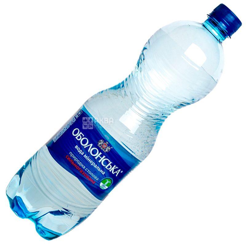 Оболонь, 1,5 л, Вода минеральная сильногазированная, ПЭТ