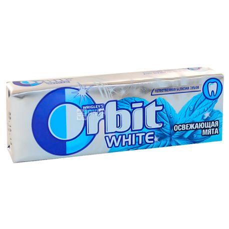 Orbit, 14 г, Жевательная резинка, Белоснежный освежающая мята