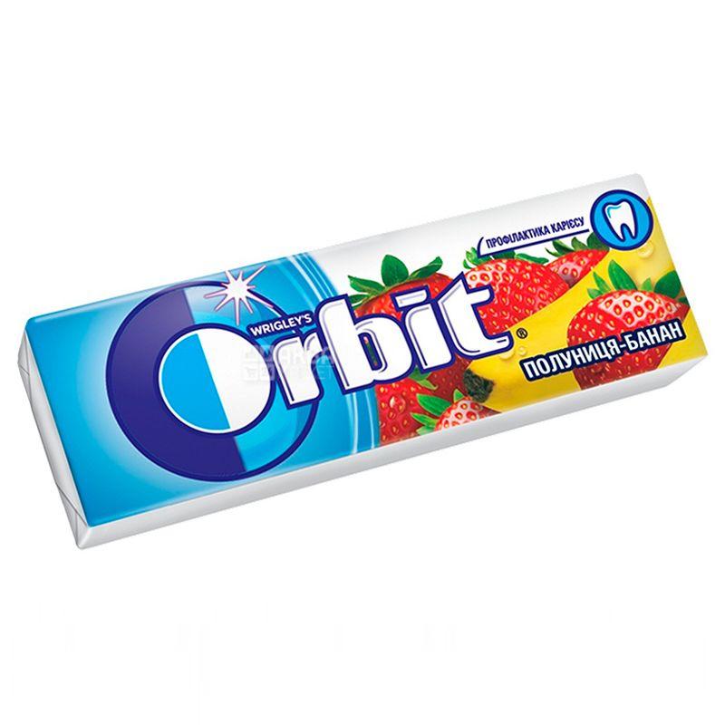 Orbit, 14 г, Жевательная резинка, Банан-клубника
