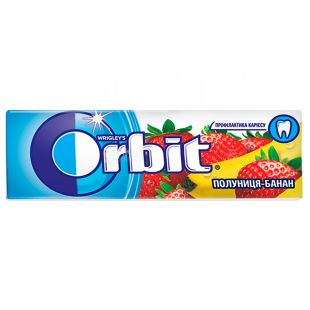 Orbit, 14 г, Жувальна гумка, Банан-полуниця