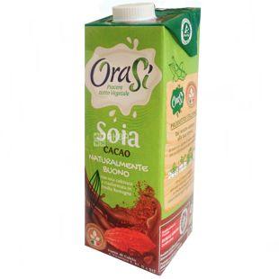 OraSi, Soia Cacao, 1 л, ОраСі, Соєвий напій з какао, вітамінізований