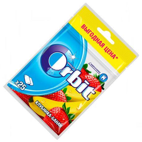 Orbit, 35 г, Жувальна гумка, Полуниця-банан, У пакеті
