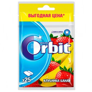 Orbit, 35 g, Chewing gum, Strawberry-banana, in a package