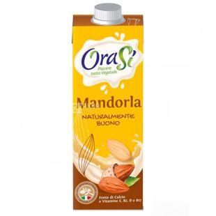OraSi Almond, 1 л, Напиток растительный, Миндальный, С витаминами и кальцием, Тетра Пак