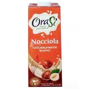 OraSi, Nocciola, 1 л, ОраСі, Соєвий напій з лісовими горіхами, вітамінами і кальцієм