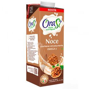 OraSi Walnut Noce, 1 л, Напиток растительный, Грецкие орехи, С витаминами и кальцием, Тетра Пак