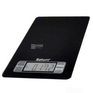 SATURN, Весы кухонные, Black, ST-KS7235