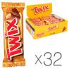 Twix, Упаковка 32 шт. по 50 г, Шоколадные батончики
