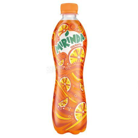 Mirinda, Orange, Упаковка 12 шт. по 0,5 л, Миринда, Апельсин, Вода сладкая, ПЭТ