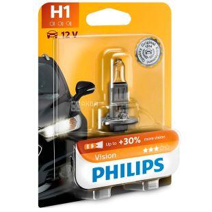Philips, Лампа, Галогенна, H1 Vision, 3200K, Блістер