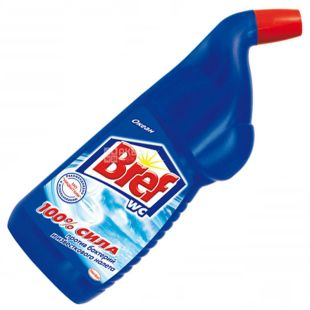 Bref, 700 ml, Toilet gel, Against lime and plaque, Ocean