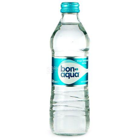 BonAqua, 0,33 л, БонАква, Вода минеральная негазированная, стекло