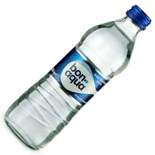 BonAqua, 0.33 L, highly carbonated water, glass, glass