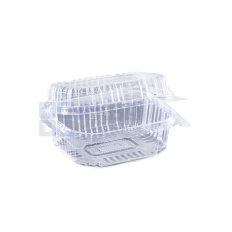 Контейнер пищевой, 130х130х68 мм, 860 мл, прозрачный,100 шт., блистер