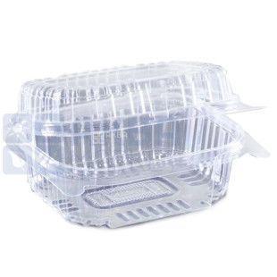 Контейнер харчовий, 130х130х68 мм, 860 мл, прозорий, 100 шт., блістер
