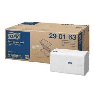 Tork, 250 pcs., Paper towels, ZZ-additions, Single-ply