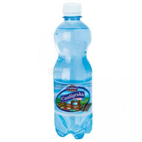Слобідська, Вода сильногазована, 0,5 л, ПЕТ