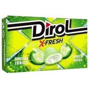 Dirol X Fresh, 18 г, Жувальна гумка, Свіжість яблука