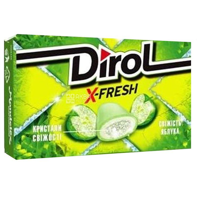 Dirol X Fresh, 18 г, Жевательная резинка, Свежесть яблока