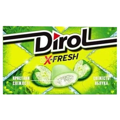 Dirol X Fresh, 18 g, Chewing gum, apple freshness