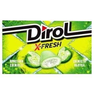 Dirol X Fresh, 18 g, Chewing gum, apple freshness