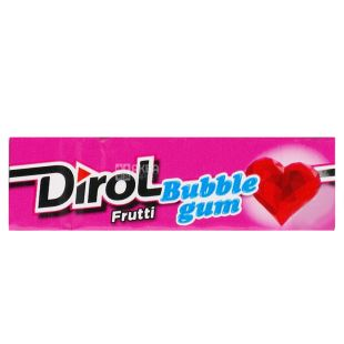 Dirol Bubble Gum Frutti, 14 g, Chewing gum, Fruit