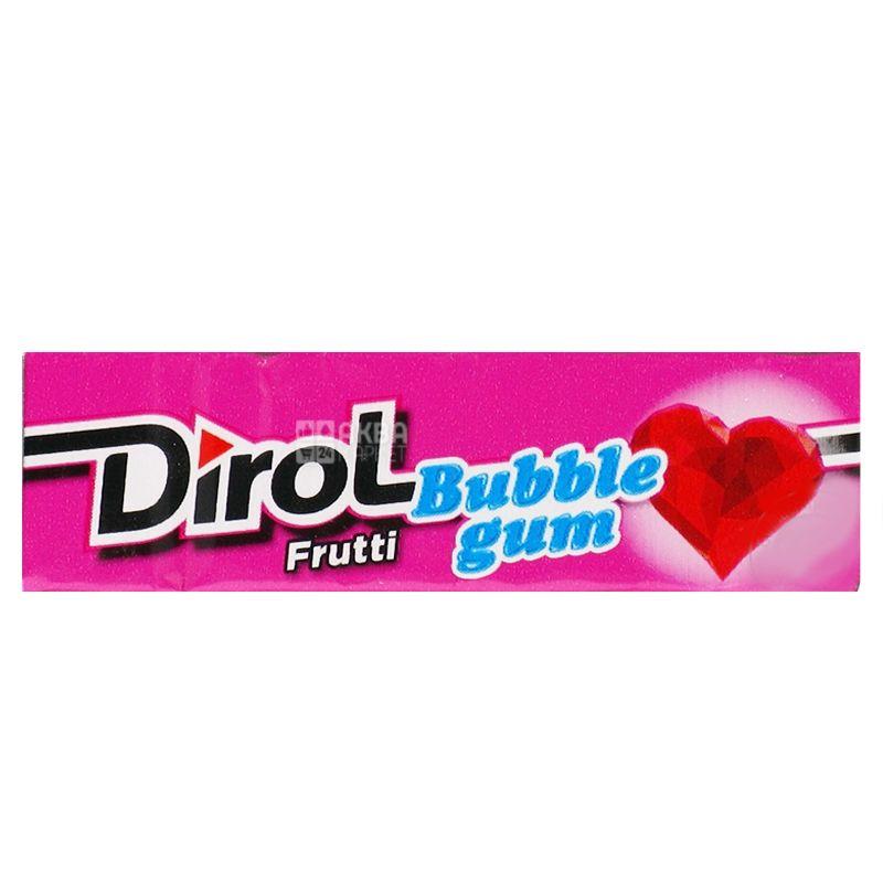 Dirol Bubble Gum Frutti, 14 g, Chewing gum, Fruit
