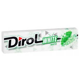 Dirol White М'ята, 14 г, Жувальна гумка, Дірол Вайт