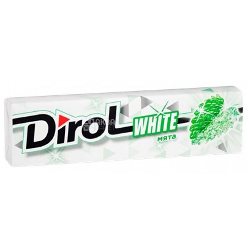 Dirol White Мята, 14 г, Жевательная резинка, Дирол Вайт