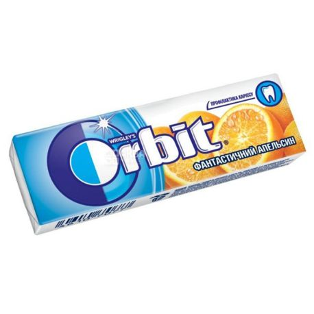 Orbit, 14 г, Жувальна гумка, Фантастичний Апельсин