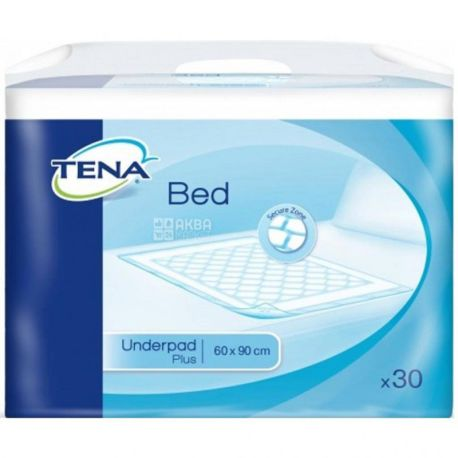 Tena, 30 pcs., Disposable diapers, Plus, 60 * 90 cm