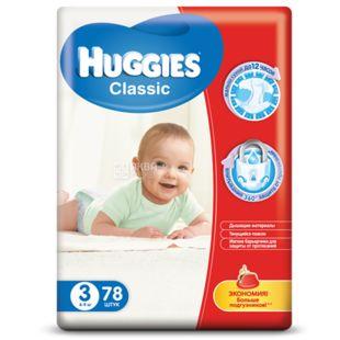 Huggies Classic Mega 3, 78 шт., Подгузники
