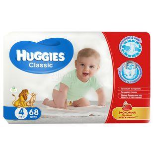 Huggies Classic Mega 4, 68 шт., Подгузники