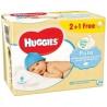 Huggies, 2+1 упаковки по 56 шт., Влажные салфетки, Pure, м/у