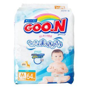 Goon, 64 шт., 6-11 кг, Подгузники, М