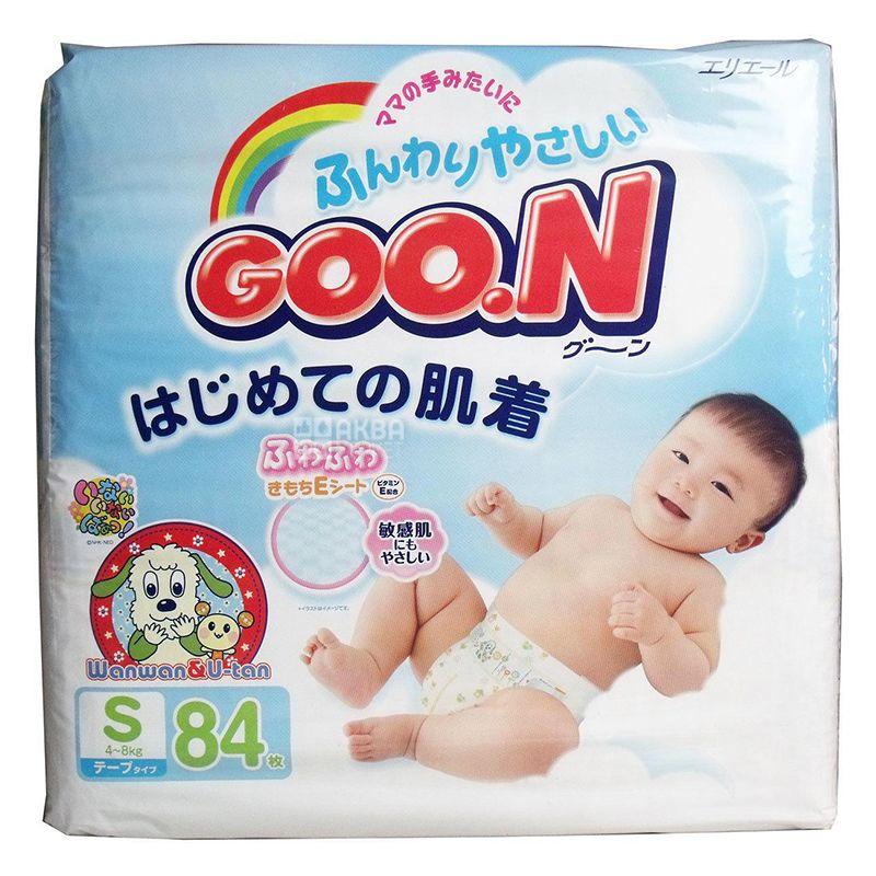Goon, 84 шт., 4-8 кг, Підгузки, S