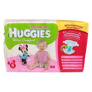 Huggies Ultra Comfort 4, 66 шт., 7-16 кг, Подгузники, Для девочек