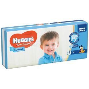 Huggies Ultra Comfort 5, 56 шт., 12-22 кг, Підгузники, Для хлопчиків