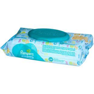 Pampers, 64 шт., Салфетки влажные, Baby Fresh Clean, м/у