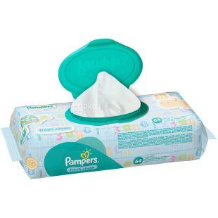 Pampers, 64 шт., Серветки вологі, Baby Fresh Clean, м/у