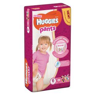 Huggies Pants Mega Girl 6, 36 шт., 15-25 кг, Підгузники, Для дівчаток, м/у