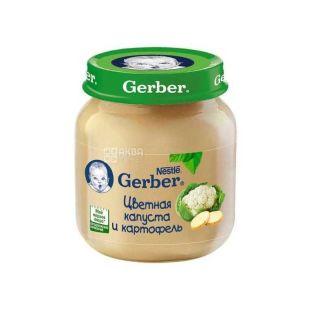 Gerber, 130 г, Пюре, C цветной капустой и картошкой