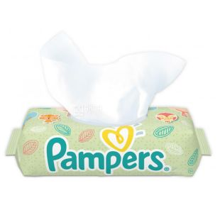 Pampers, 64 шт., Дитячі вологі серветки, Clean & Play