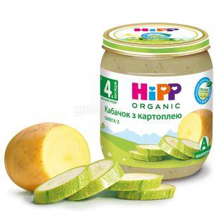 HiPP, 125 г, Овочеве пюре, З кабачком та картоплею, З 4-х місяців