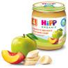 HiPP, 125 г, Фруктовое пюре, Яблоки с персиками и бананами, С 4-х месяцев