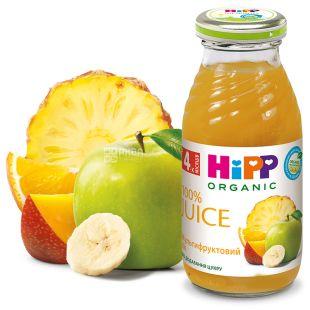 HiPP, Multifruit, 200 мл, Хипп, Сок, мультифруктовый, с 4 месяцев, без добавления сахара, стекло