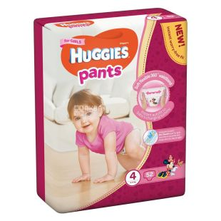 Huggies Pants 4, Panties for girls from 9 to 14 kg