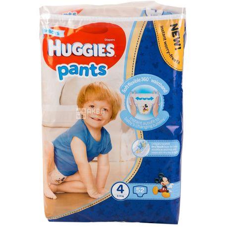 Huggies Pants, 52 шт., Хаггіс, Підгузки-трусики, Розмір 3, 9-14 кг