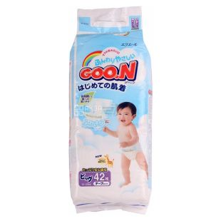 Goon, 42 шт., 12-20 кг, Подгузники, XL