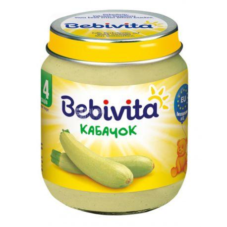 Bebivita 125г Овощное пюре Кабачок, стекло